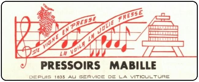 """Brochure gamme des """"Pressoirs Mabille"""" – Années 1960/1970"""