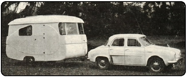 """Brochure Caravanes """"Mabille-Europa"""" – SA Mabille France – Début Années 1960"""