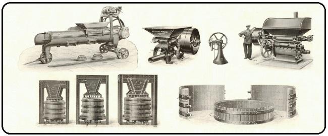 """Catalogue Pressoirs & Instruments vinicoles / cidricoles et agricoles – SARL """"Pressoirs Mabille"""" de 1935"""
